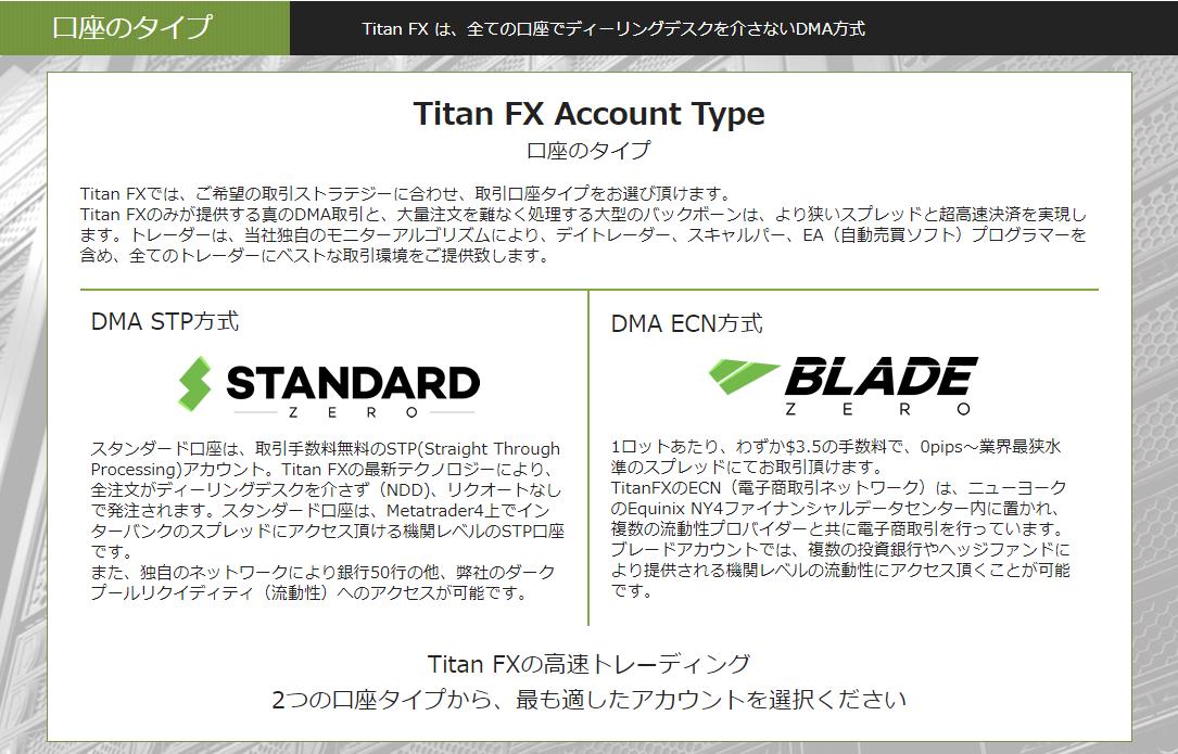 TitanFX 口座タイプ2